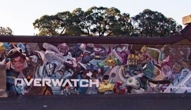Overwatch: Así se hicieron los murales de celebración de su aniversario