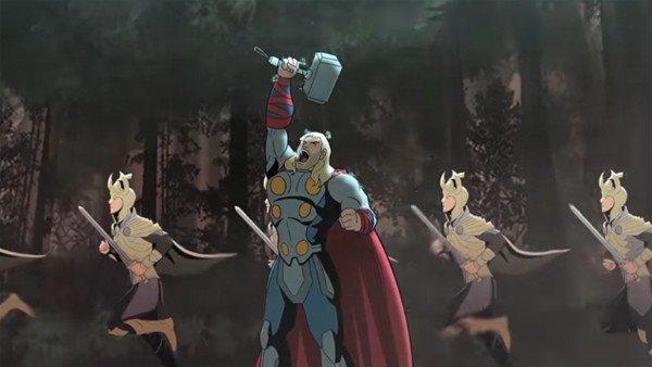 Thor: Ragnarok cuenta con un tráiler animado muy divertido