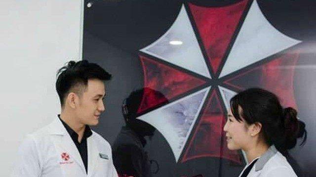 Una clínica dermatológica vietnamita usa el logo de la corporación Umbrella
