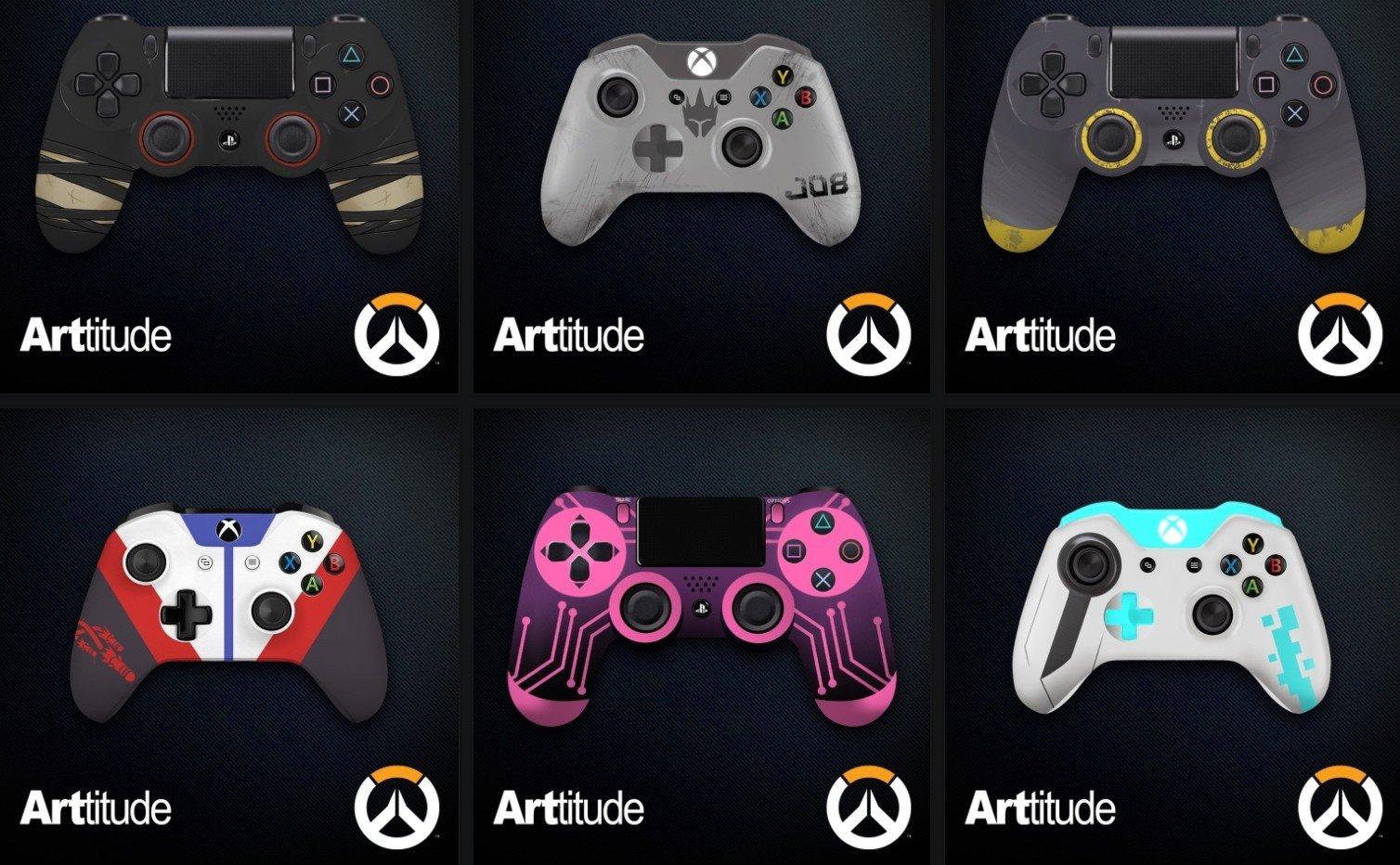 Overwatch: Blizzard presenta varios mandos personalizados con motivos del juego