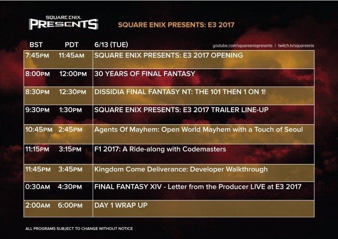 E3 2017 U-tad: Square Enix detalla sus planes para la feria