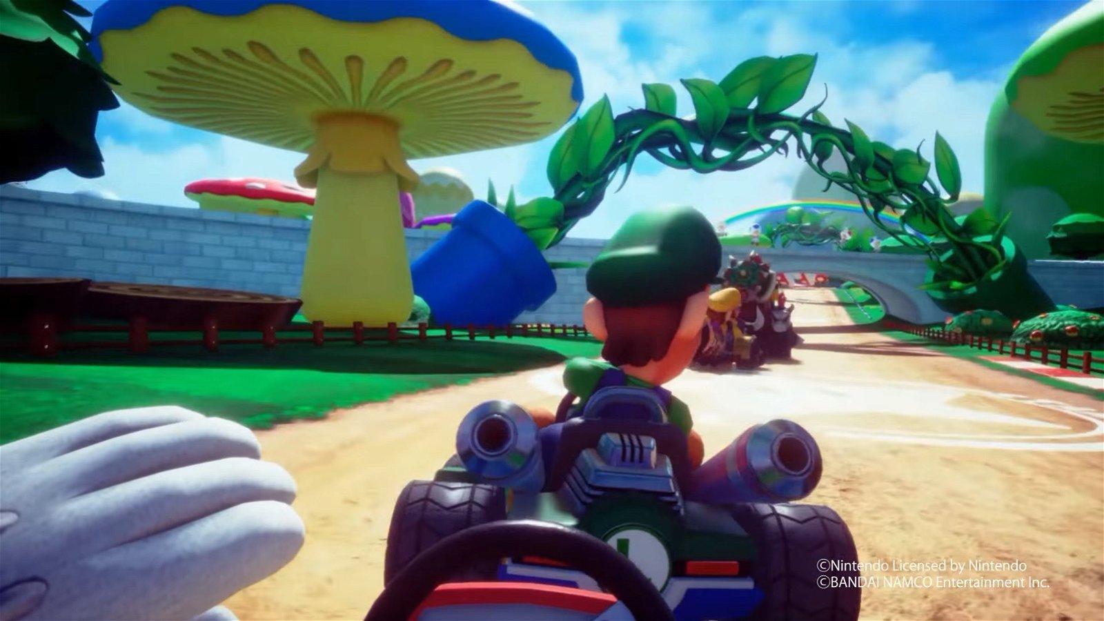 Mario Kart VR existe en la VR Zone de Bandai Namco en Japón