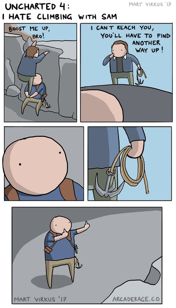 Uncharted 4: Nathan y Samuel protagonizan una nueva tira cómica