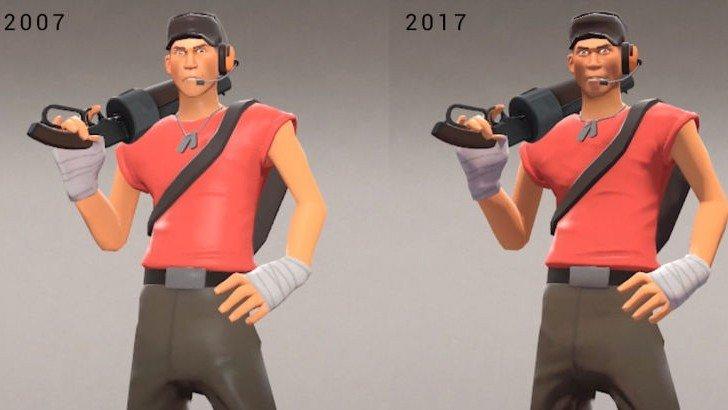 Team Fortress 2 luce peor ahora que hace diez años