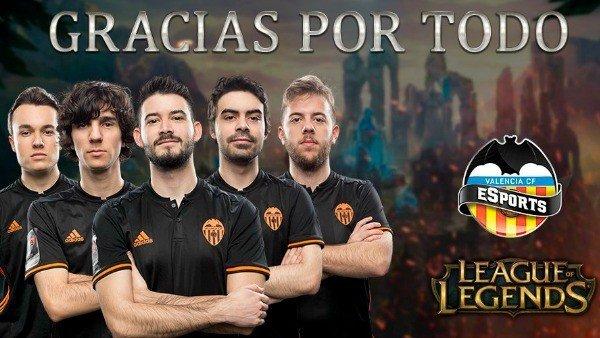 El Valencia rehará por completo su equipo de League of Legends