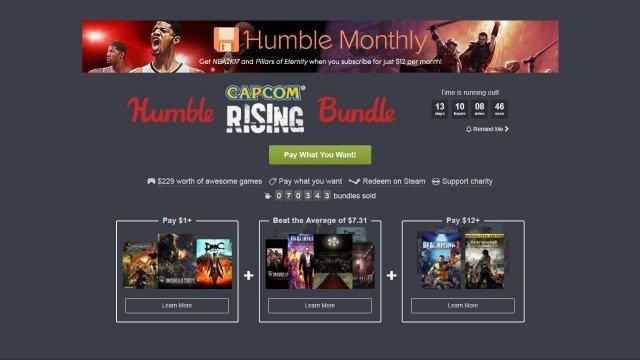 Humble Bundle y Capcom unen fuerzas en su último lote