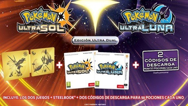 Pokémon Ultrasol/Ultraluna revela sus ediciones especiales
