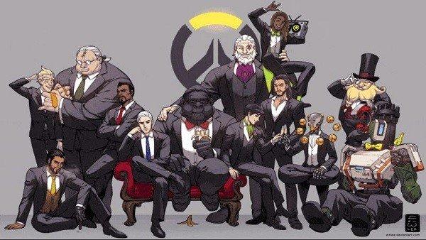 El elenco al completo de Overwatch se reúne en la vida real vestidos para la ocasión