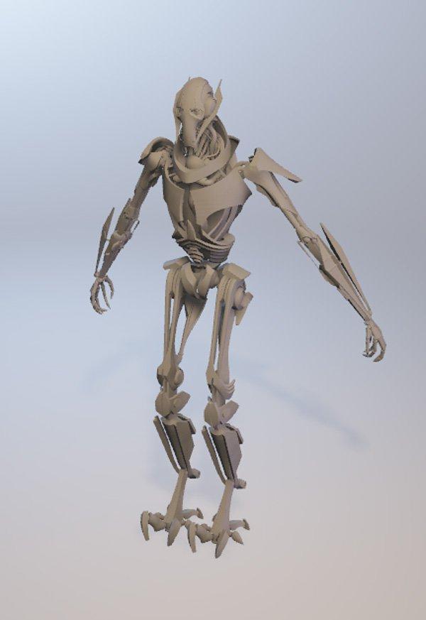 Star Wars Battlefront 2: El modelado de Grievous está dentro del juego