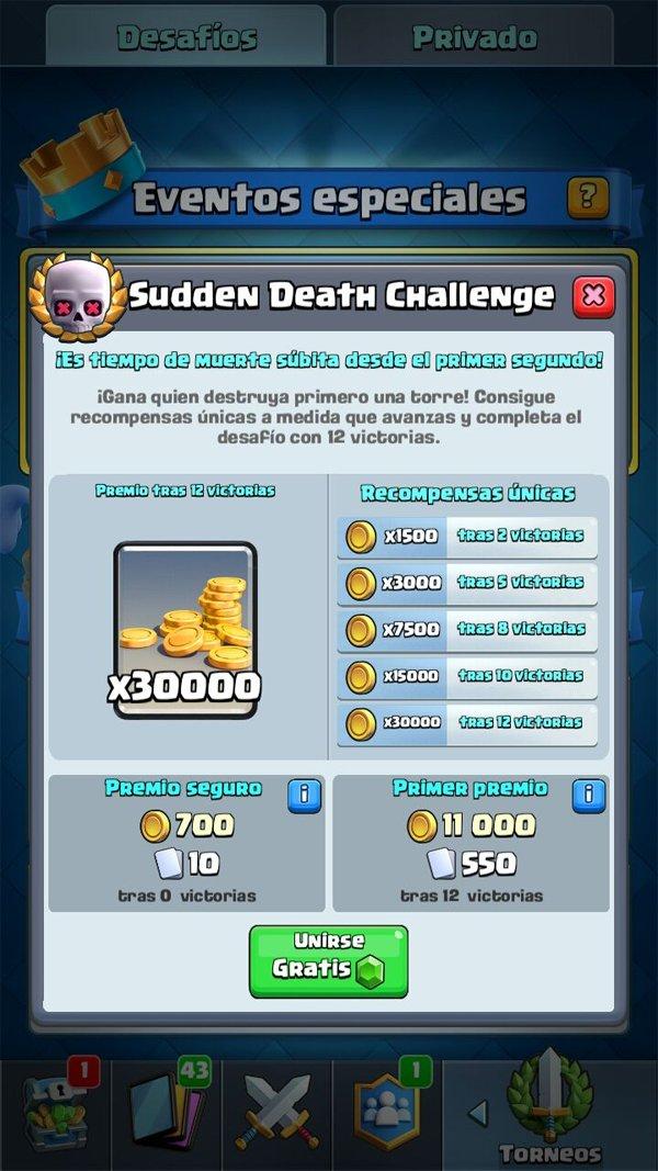 Clash Royale ya ha abierto su desafío de muerte súbita