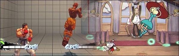 Cuphead incluye varias referencias a personajes de Street Fighter
