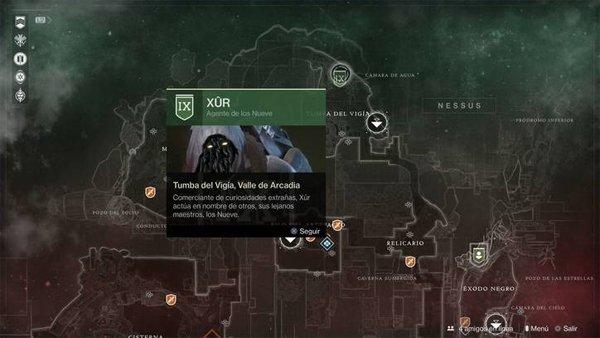 Destiny 2 recibe su primera visita de Xur, el vendedor errante