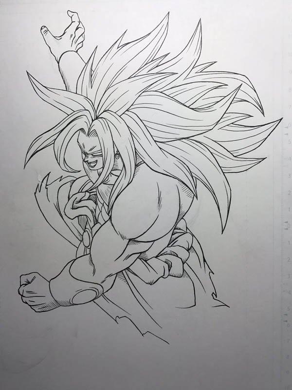 Dragon Ball Super: Su ilustrador realiza un dibujo a pluma de Broly