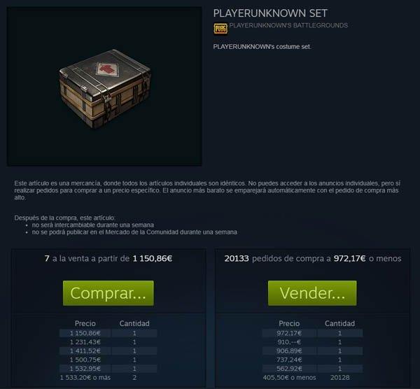 PlayerUnknown's Battlegrounds: Algunos artículos del mercado alcanzan precios desorbitados