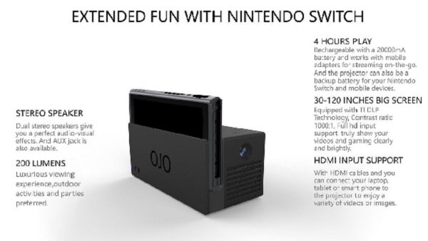 Nintendo Switch tendrá un miniproyector LED