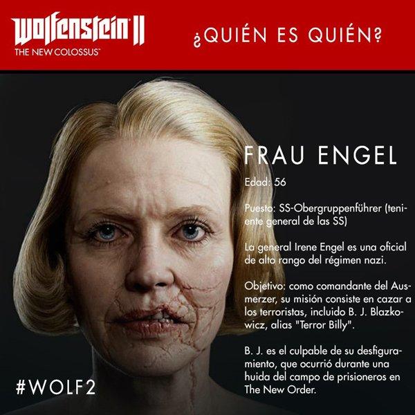 Wolfenstein II: The New Colossus nos presenta a Frau Engel, la villana del juego
